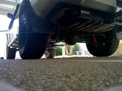 Nissan Patrol 3 inch exhaust td42t - YouTube