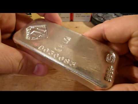 Engelhard, Johnson Matthey and other kilo bars. .999 silver