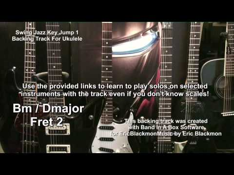 Swing Jazz Key Jump Backing Track For Ukulele With Lesson Link EricBlackmonMusicHD