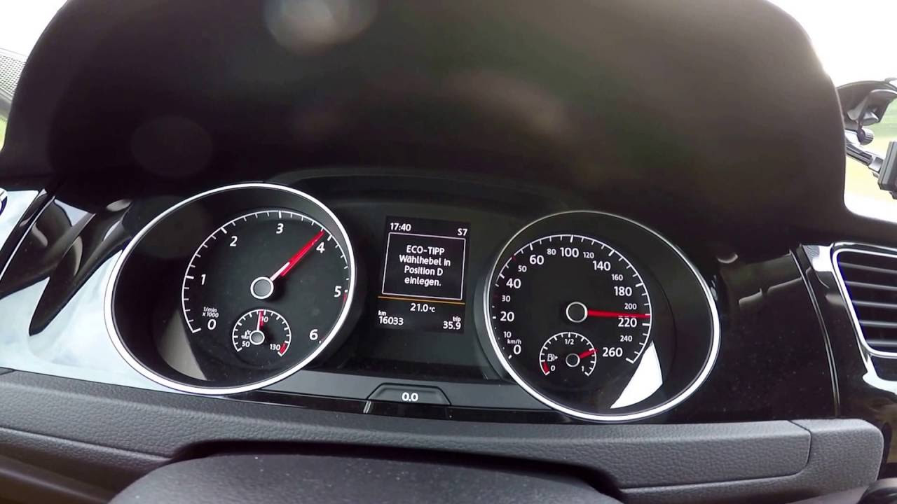 VW Golf 7 1,6 TDI BM 81KW 110HP 0-200KM/H  AND TOP SPEED  226 KM/H !!!!!