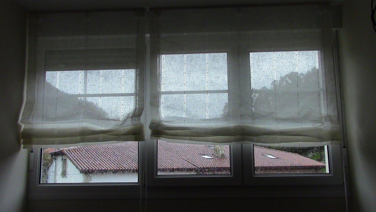 como colocar una cortina visillo estore en ventana