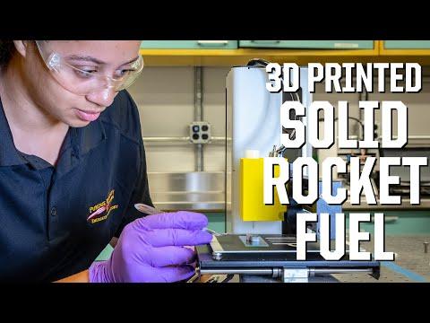 0 - Neues 3D-Druckverfahren für zähflüssige Materialien und festen Raketentreibstoff