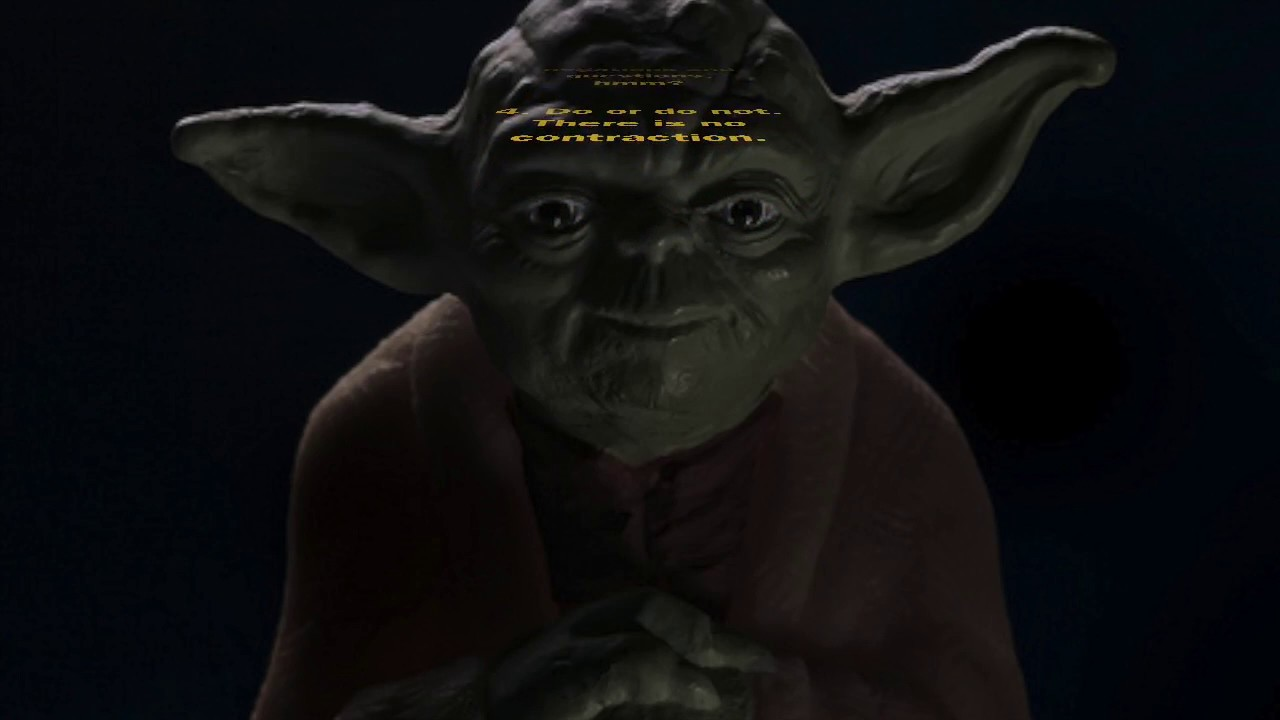 Yoda Speaks Rules Youtube