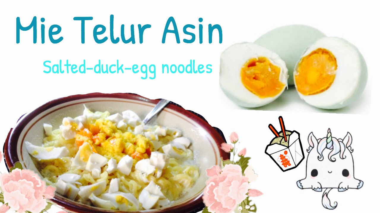 Resep Mie Telur Asin Salted Duck Egg Noodles Youtube Indomie Goreng