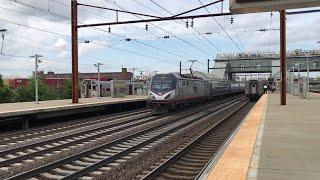 Amtrak & NJ Transit HD 60fps: Trifecta of Northeast Corridor Trains @ Newark Airport (5/10/19)