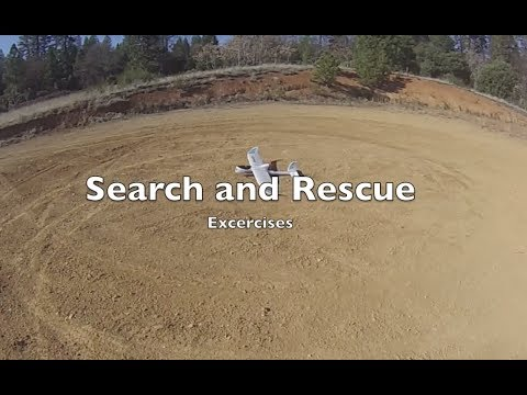 Search and Rescue Exercises with a Drone