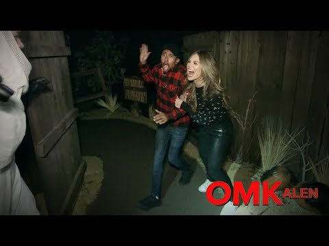OMKalen: Kalen and Hannah Brown Go Through a Haunted House
