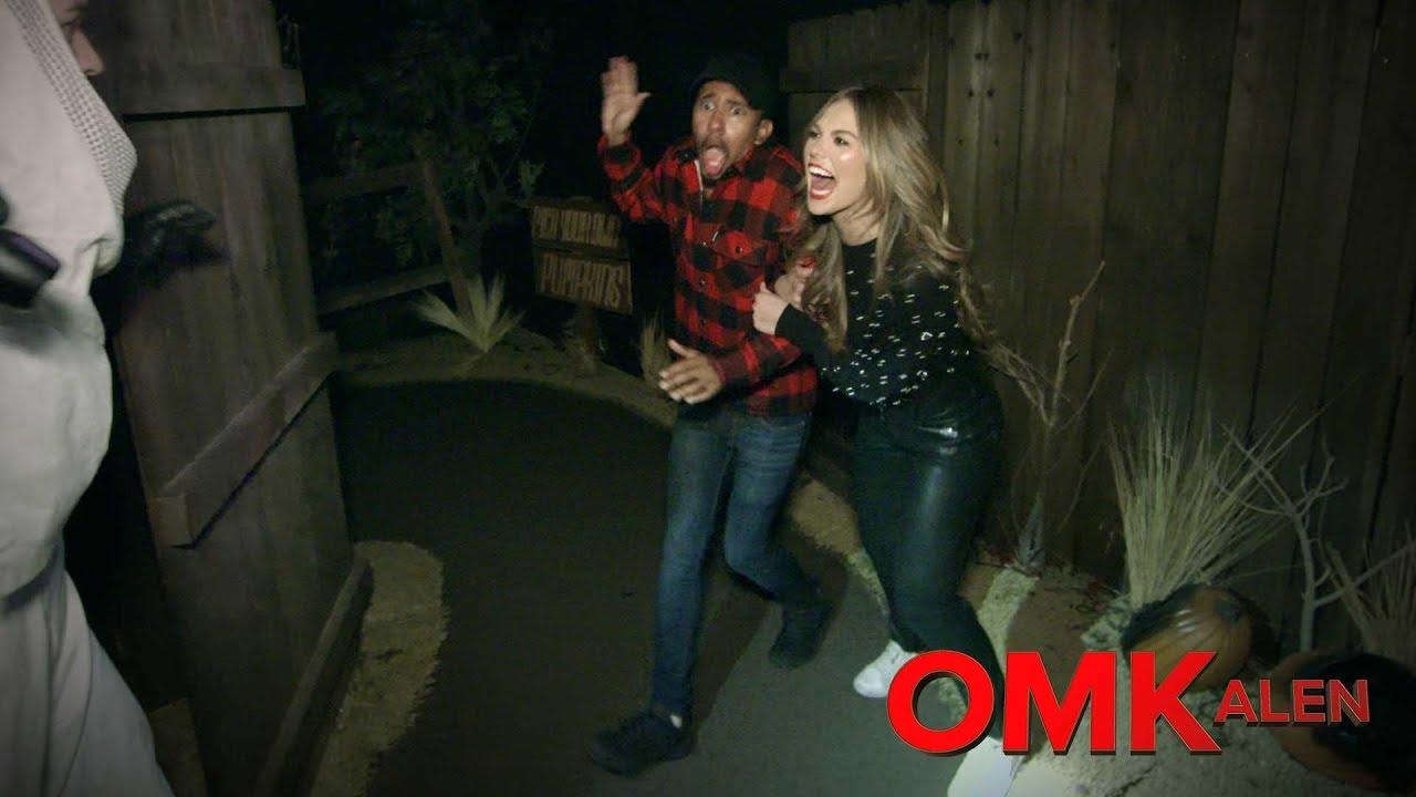 Download 'OMKalen': Kalen and Hannah Brown Go Through a Haunted House