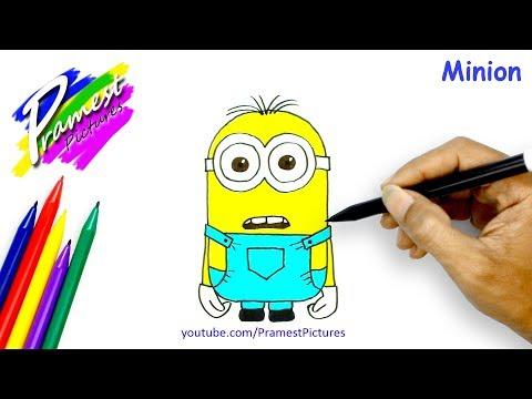 Minion Cara Menggambar Dan Mewarnai Gambar Kartun Untuk Anak Youtube