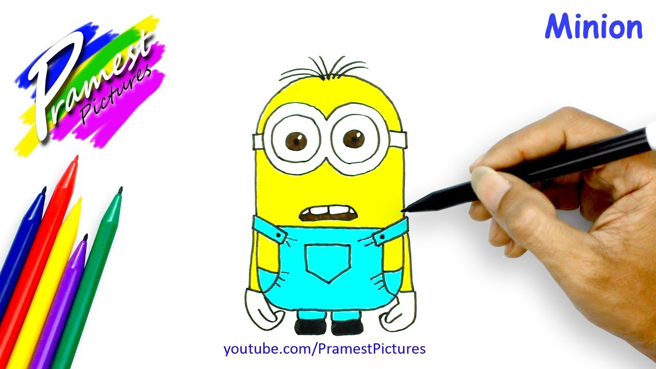 How To Draw Minion Cartoon Coloring Pages