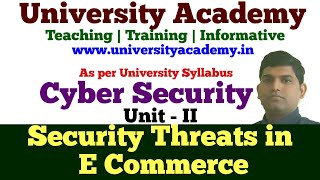 L13: Security Threats to E Commerce|What is E Commerce|E cash system |What is Credit and Debit Card