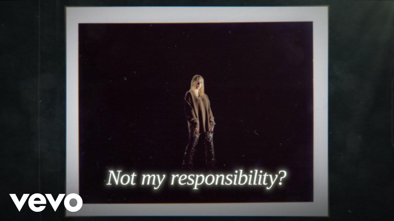 Billie Eilish - Not My Responsibility (Official Lyric Video)