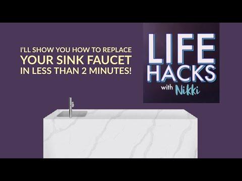 LIFE-HACKS-with-Nikki-DIY-replace-sink-faucet