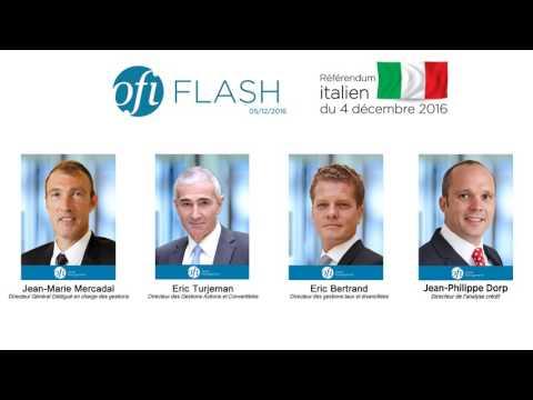 FLASH Conférence OFI Asset Management Référendum italien 5 décembre 2016