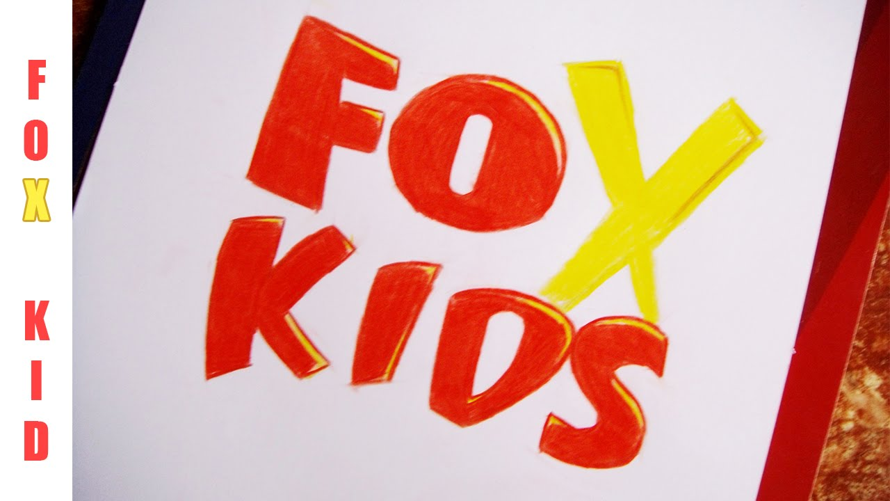 drawing fox kids logo dibujado logo fox kids youtube