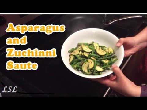 Asparagus and Zuchinni Saute