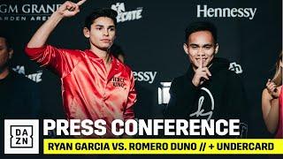 PRESS CONFERENCE | Ryan Garcia vs. Romero Duno + Rest Of Undercard