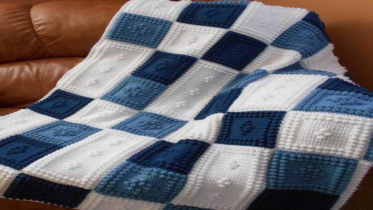 Manta para bebe tejida crochet y dos agujas by tejidosymoda - Mantas de punto a dos agujas ...