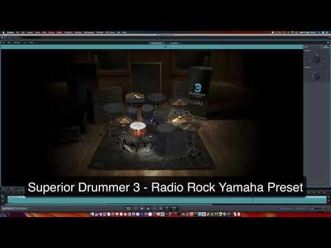 Superior Drummer 3- Yamaha Radio Rock Preset