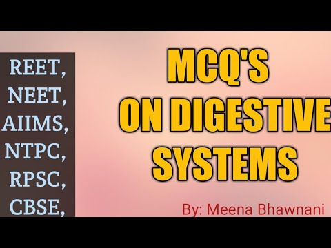 MCQ'S - HUMAN DIGESTIVE SYSTEM | in Hindi - YouTube