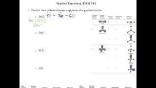 Practice Exercise p 338 341 Electron Domain and Molecular Geometry