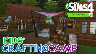 KIDS' CRAFTING CAMP 🧸🧶 (Using Nifty Knitting!)   The Sims 4: Speed Build (NO CC)