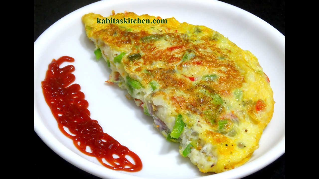 Vegetable Cheese Omelet Recipe-How to make Cheese Omelet ...