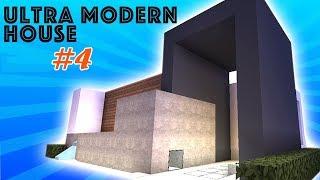 Hướng dẫn xây nhà hiện đại trong minecraft - có thác nước (Modern house with waterfall) #4