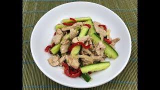 Огурцы с мясом «По-корейски» | Диетическое мясное блюдо