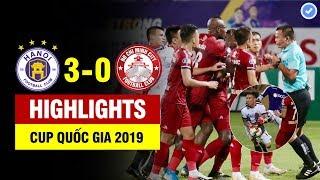 Highlights Hà Nội 3-0 HCM | Trọng tài ghi nhận bàn thắng tranh cãi nhất lịch sử,CLB HCM súyt bỏ trận