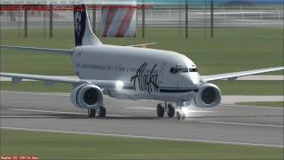 Microsoft Flight Simulator X- Alaska Airlines Flight AS520 Seattle Tacoma Int