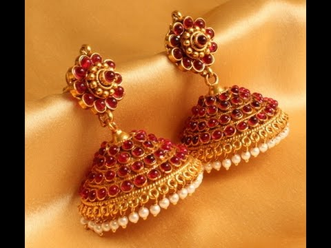 top 20 grt jewellers gold jhumkas designs youtube