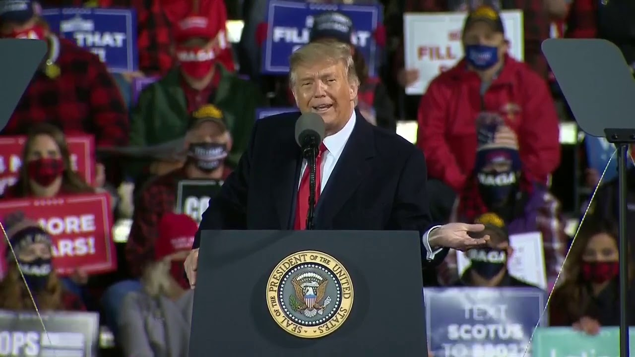 Speech Donald Trump Holds A Campaign Rally In Duluth Minnesota September 30 2020 Youtube