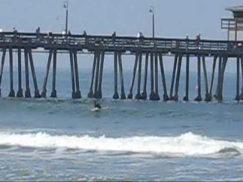 Imperial Beach Pier, San Diego California - surfing video