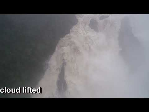Barron Falls, Cairns North Queensland, Phantom Drone view in Flood  27th Jan 2019
