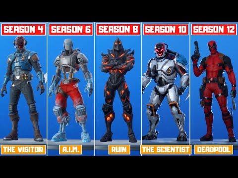 The Evolution Of All Mystery Fortnite Skins! (Season 4 - Season 12)