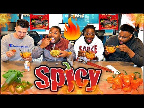 THE MOST EXTREME 2X SPICY NOODLES CHALLENGE. (Bloves hot sauce, jalapenos, habaneros added 😮🌶️)