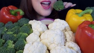 HEALTHY EATING ASMR Raw Veggie Platter - EXTREMELY SATISFYING Crunchy Sounds!