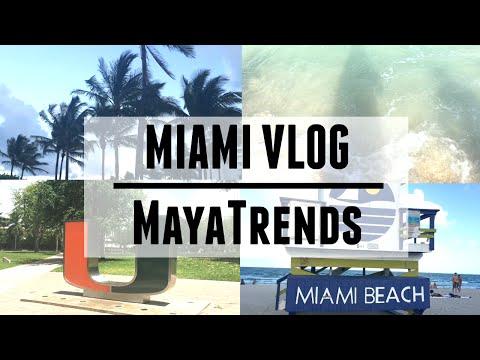 Miami Vlog (University of Miami, Dorms, South Beach) | MayaTrends