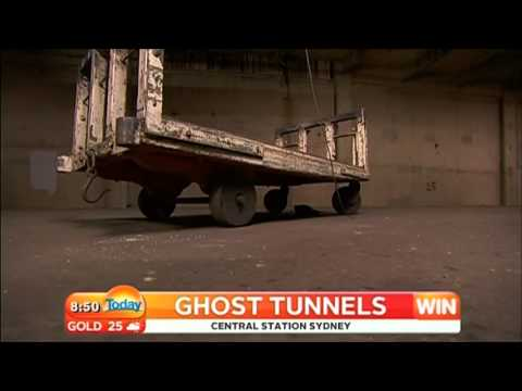 Channel Nine - Today Show - Sydney Central Station Ghost Tunnels (31/10/2012)
