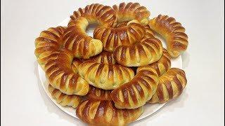 РОГАЛИКИ с ВАРЁНОЙ СГУЩЁНКОЙ и ОРЕХАМИ (bagels with condensed milk and nuts)
