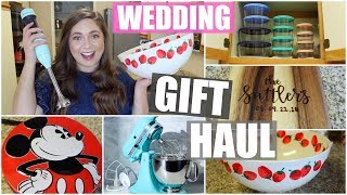 WEDDING GIFT HAUL + What We Registered For! 2019