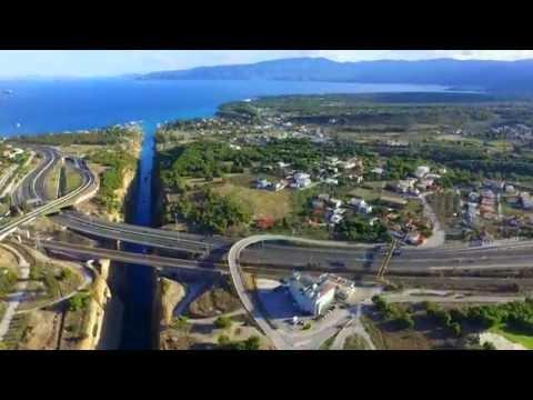 Διώρυγα της Κορίνθου, Corinth Canal λήψη με DRONE