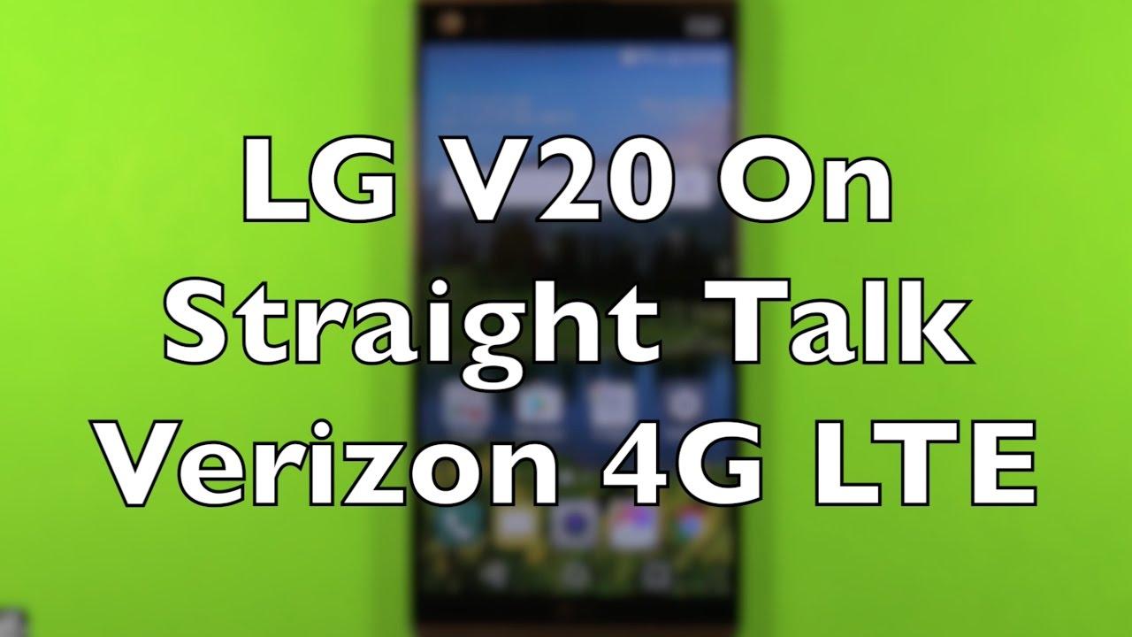 LG V20 On Straight Talk Verizon 4G LTE $45 Unlimited