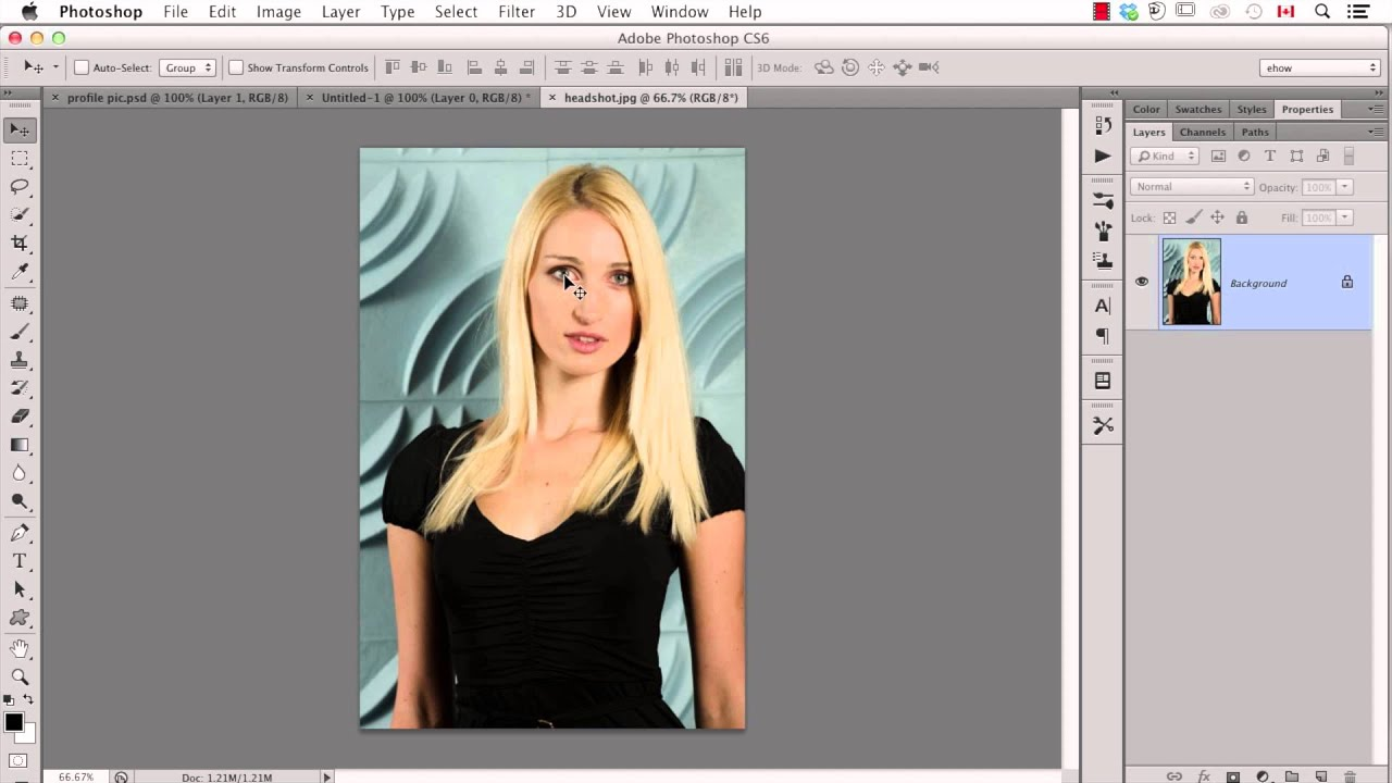 How to Create Facebook Profile Pictures Using Photoshop : Important Photoshop Tips