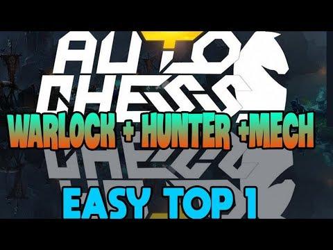 Gà thử đội hình WARLOCK + MECH + HUNTER  | Gasenpai | auto chess vn | gameplay