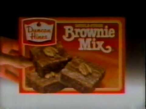1984 Duncan Hines Brownie Mix Commercial Youtube
