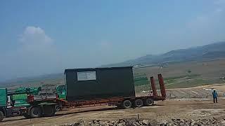 30 ton beton köşk eğimli arazi çalışması
