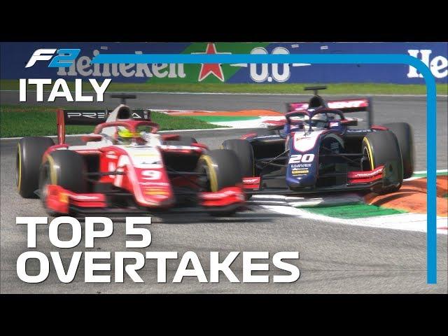 Top 5 Formula 2 Overtakes | 2019 Italian Grand Prix