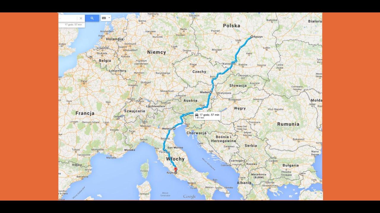 Trasa Polska Wlochy Rzym 2015 Samochodem Part 1 Youtube